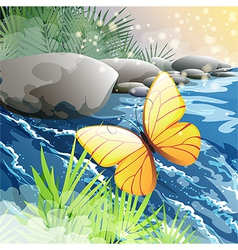 Morning creek vector image