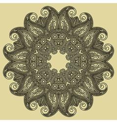 Ornate floral circle ornament ornamental round lac vector