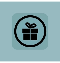 Pale blue gift sign vector