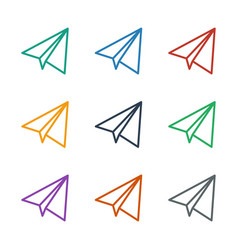 Paper airplane icon white background vector