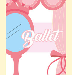 Pink mirror crown jewelry ballet decoration vector