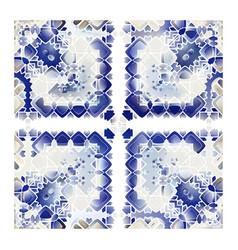 Portuguese azulejo tiles vector