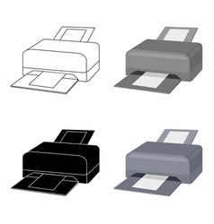 printer icon in cartoon style isolated on white vector image