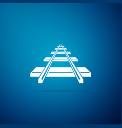 railroad icon isolated on blue background vector image