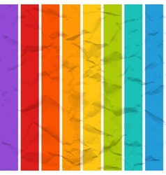 rainbow crumpled paper seamless pattern vector image