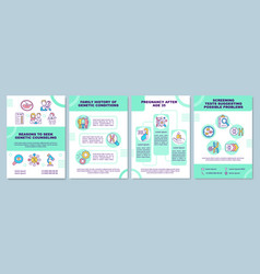 Reasons to seek genetic counseling brochure vector