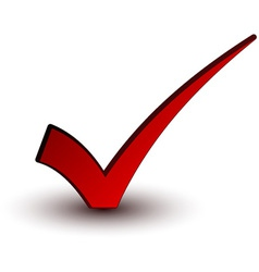 red positive checkmark vector image