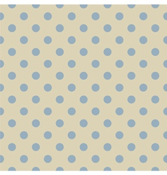 Retro seamless blue polka dots pattern vector