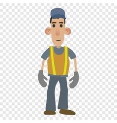 Road worker cartoon vector