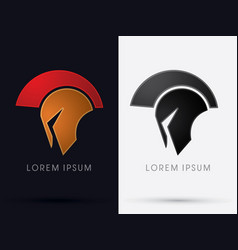Roman or greek helmet spartan vector