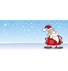 Santa Claus with star cartoon card vector image