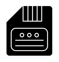 Save solid icon diskette vector