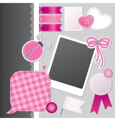 scrapbooking set vector image