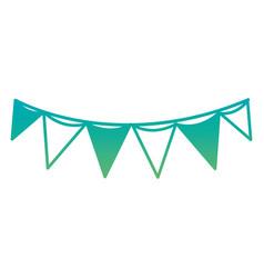 silhouette flag party celebration decoration vector image
