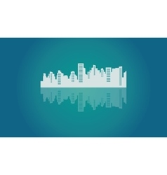 Silhouette of beautiful design city vector