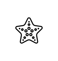 starfish icon thin line black on white background vector image