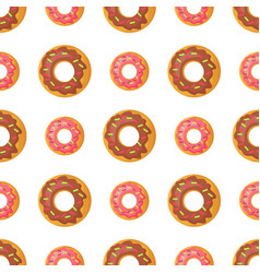 Sweet doughnut seamless pattern in flat design vector