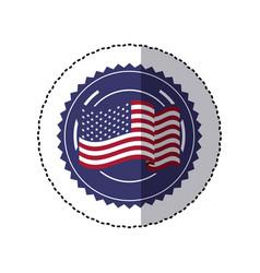 Symbol american flag sign icon vector