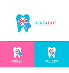 Tooth and click logo combination Dental vector