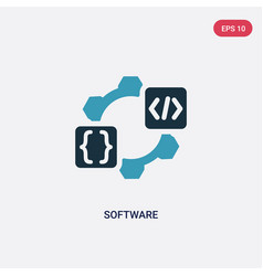 two color software icon from programming concept vector image