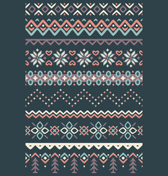 ugly sweater seamless borders vector image