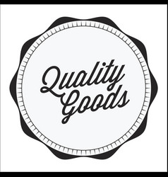 Vintage curl quality goods image vector