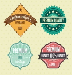 Vintage labels hip1 resize vector image