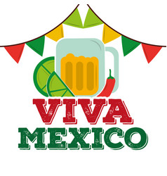 Viva mexico traditional card vector
