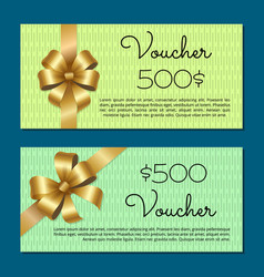 Voucher 500 set gift certificates for discounts vector
