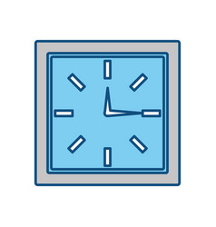 Wall clock isolated vector