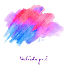 Watercolour pencil in blue and pink vector