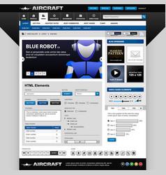web design element template a set design vector image