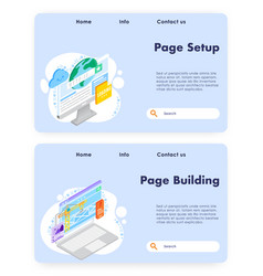 web page development website landing page vector image