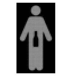 white halftone wc man icon vector image