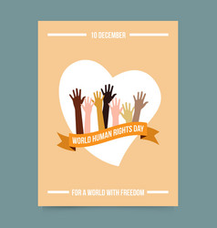 World human rights day template vector image