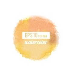 Yellow watercolor stain vector image