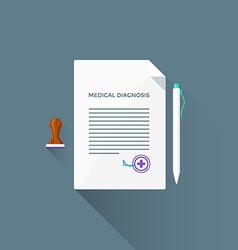 flat medical diagnosis icon vector image