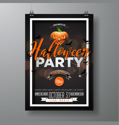 halloween party with pumpkinm vector image vector image