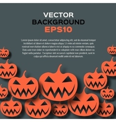 Abstract background with pumpkins Halloween vector image