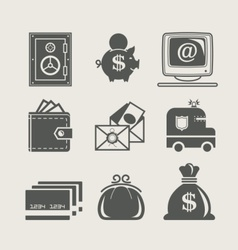 banking and finance set icon vector image