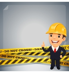 Businessman With Danger Tapes vector image
