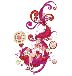 candy land vector image