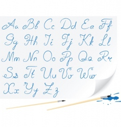 drawing alphabet vector image vector image
