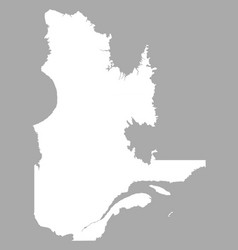 Map of quebec vector