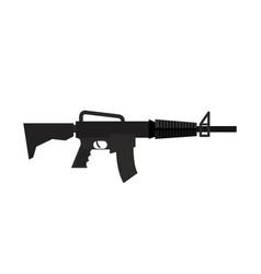 rifle isolated machine gun on white background vector image