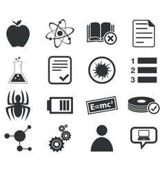 Science icon set 1 simple vector image vector image