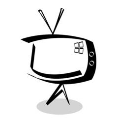 sketchy TV vector image vector image