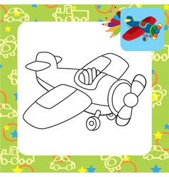 Toy plane for coloring vector image vector image