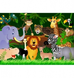 animal in the jungle vector image vector image