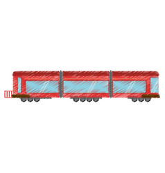 Drawing drawing train wagon passenger vector